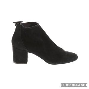 Cecelia New York Sueded Leather Chunky Ankle Boots